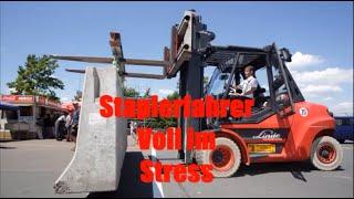 Staplerfahrer voll im Stress 35 LKW Fahrer unter Zeit Druck