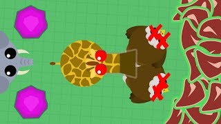 Mope.io - Cool Giraffe Double Kill! Playing With La Flame and iXPLODE! (Mope.io Funny Moments)