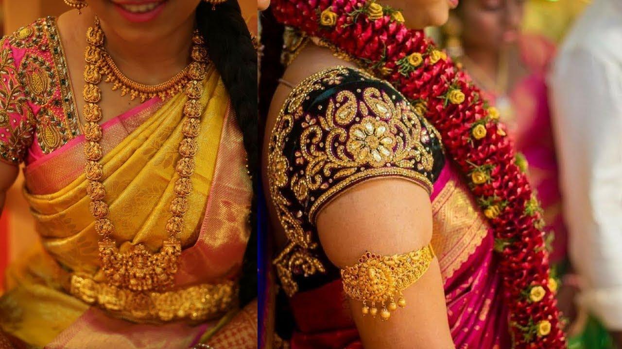 Pattu Blouse Designs | Zardosi Work Designer blouse patterns - YouTube