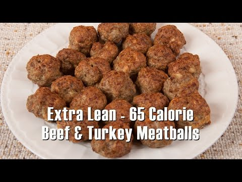 Extra Lean - 65 Calorie Beef and Turkey Meatballs (Med DIet Episode 114) DiTuro Productions