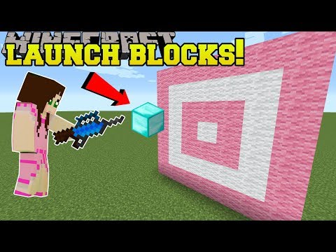 Minecraft: BLOCK LAUNCHERS!!! (SHOOT ANY BLOCKS!!!) Mod Showcase