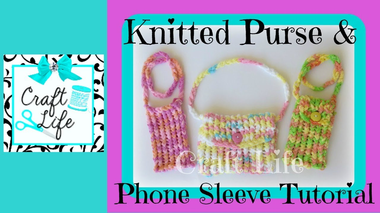 Craft Life How to Knit a Purse on the Rainbow Loom ~ or a ... Rainbow Loom Mini Purse Craft Life