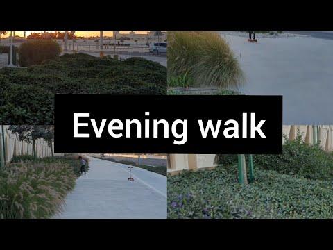 Evening walk   Pleasant weather   Rayyan enjoy scooty   Doha