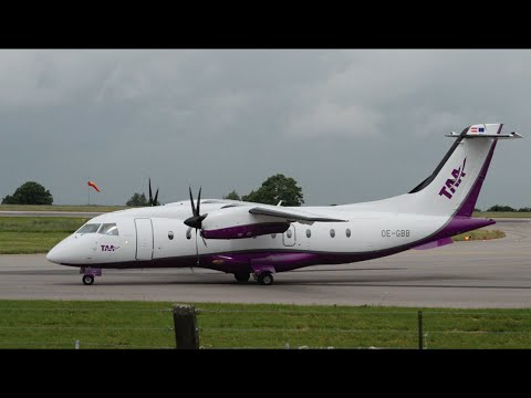 Tyrol Air Ambulance | Dornier 328-110 | OE-GBB | Landing At East Midlands Airport | HD