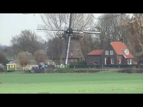 Windmills on the Rhine-Amsterdam Canal