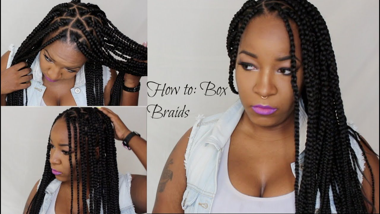 How To Box Braids Triangle Braids   YouTube