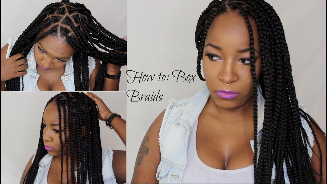 How To Box Braids Triangle Braids Youtube