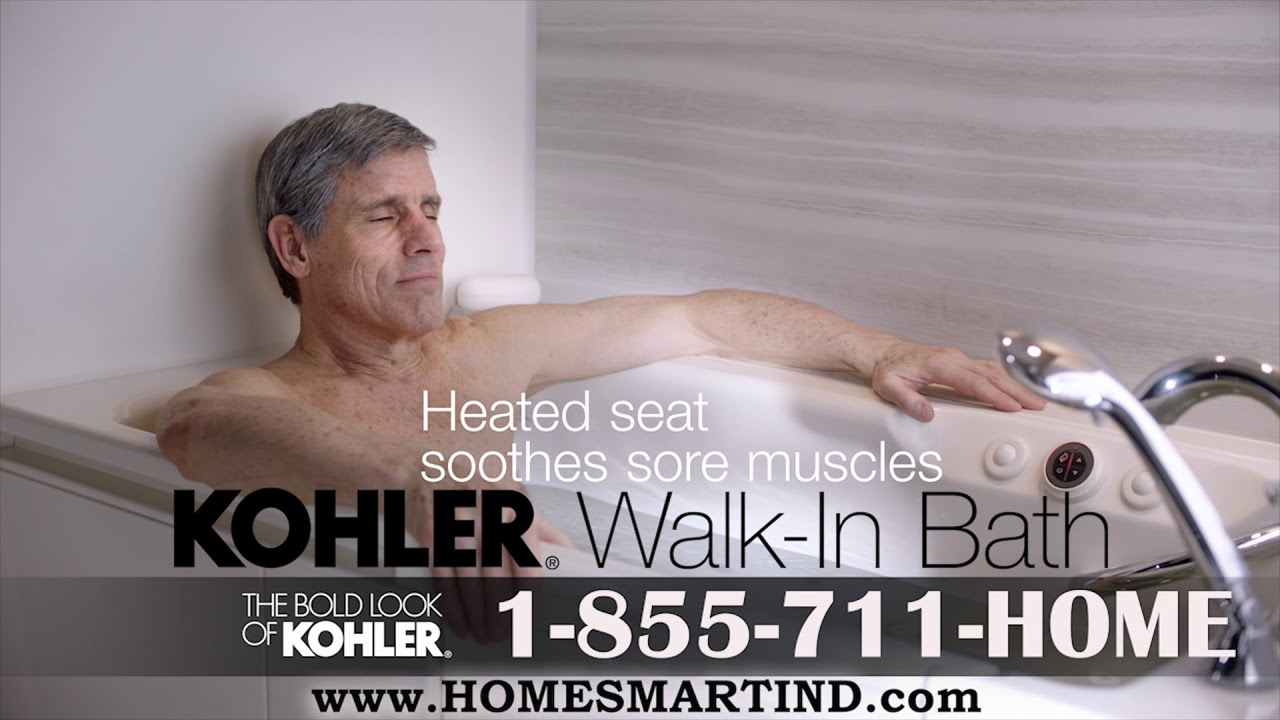 KOHLER® Walk In Bath Tub - YouTube