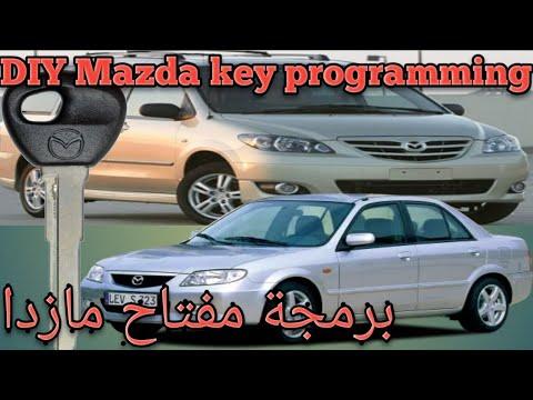 DIY mazda key programming|Mazda key replacement|mazda 323|mpv|8c transponder chip برمجة مفتاح مازدا