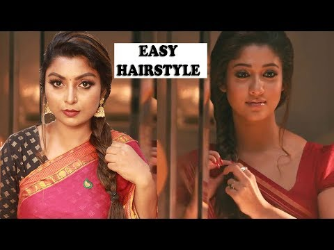 Nayanthara Inspired Hairstyle tutorial in Tamil | Raja Rani Movie | Rose Tamil Beauty and Makeup thumbnail