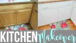 HOW TO TRANSFORM YOUR KITCHEN FOR UNDER $100! | KITCHEN CABINET MAKEOVER | Page Danielle