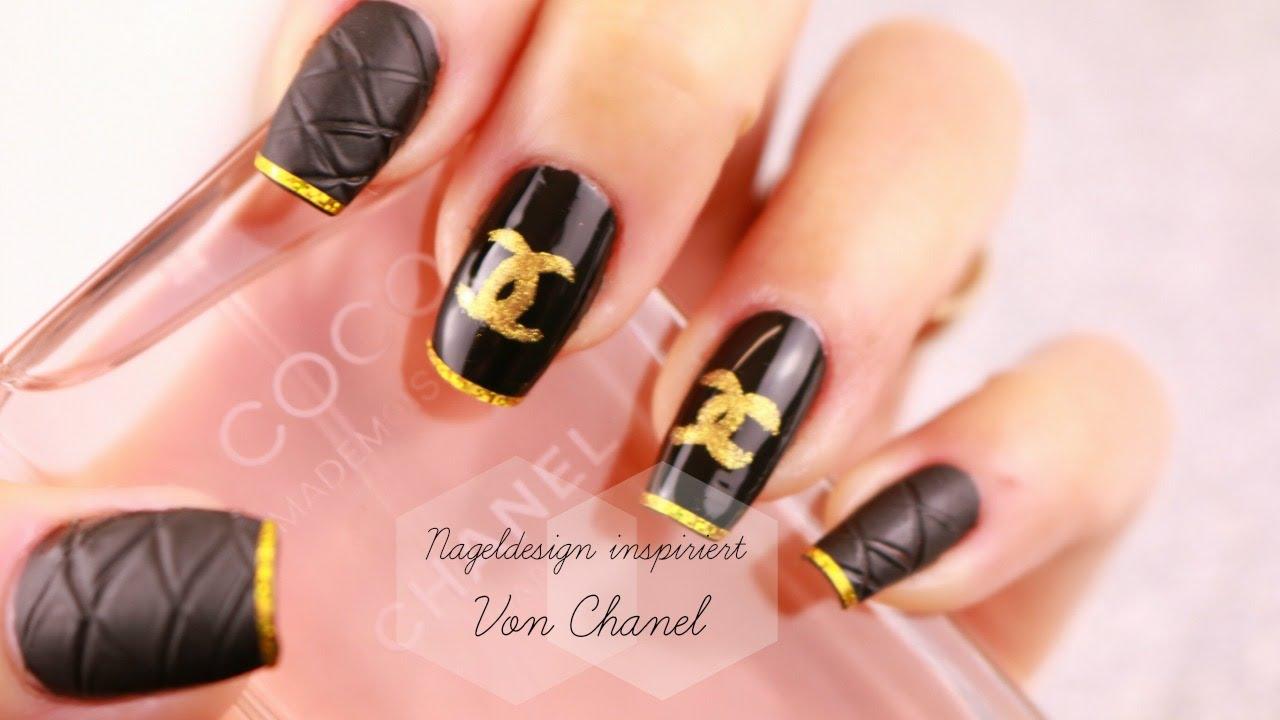Nageldesign Inspiriert von Chanel / Easy Chanel Designer Nail Art ...