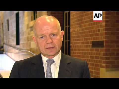 UK FM Hague on Algerian hostage criis