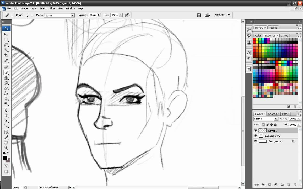 Part 5 Tutorial - Drawing heads/faces from different ...