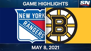 NHL Game Highlights | Rangers vs. Bruins - May 8, 2021