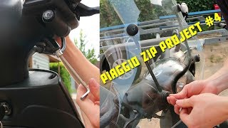 PROJECT PIAGGIO ZIP #4!!! | WIND SCHERM MONTEREN HOW TO!!!!