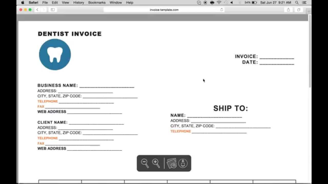 How To Make A Dental Invoice Excel Word Pdf Youtube