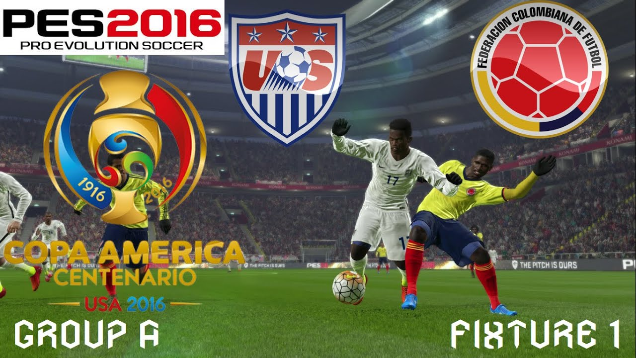 Copa America Centenario Simulation Group A Fixture  United States Vs Colombia Youtube