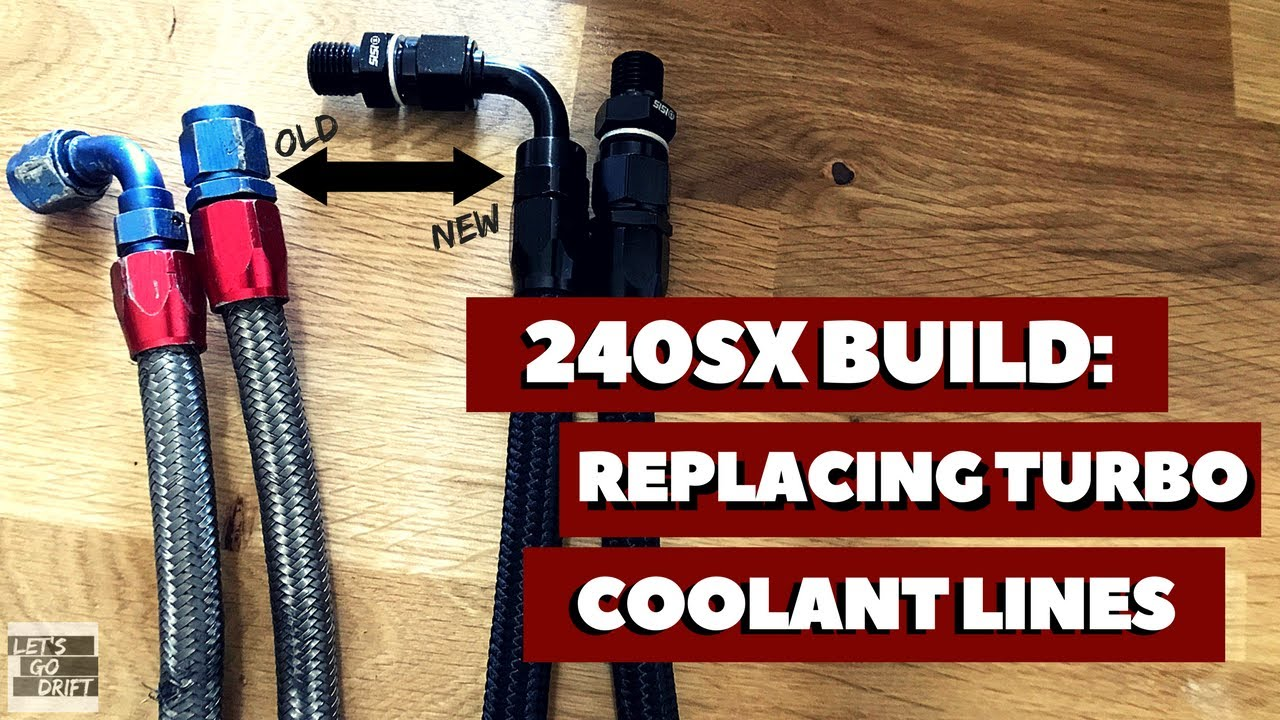 how to install turbo coolant lines on an sr20det 240sx drift prep ep 12 [ 1280 x 720 Pixel ]