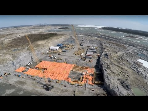 Work at the Keeyask Generating Station - video
