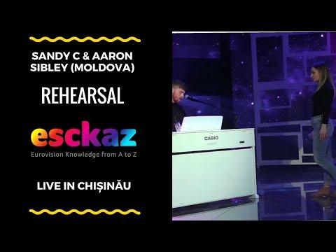 ESCKAZ in Chișinău: Sandy C & Aaron Sibley - Once Upon a Time (rehearsal)