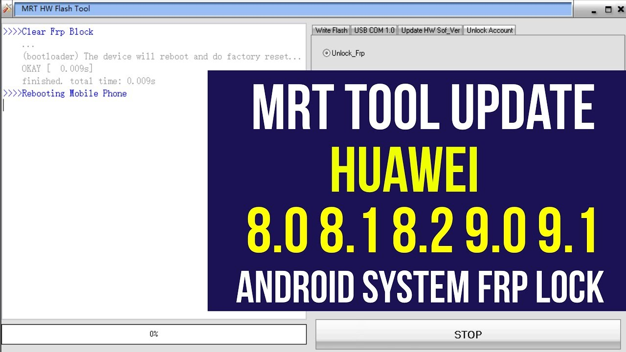 MRT TOOL UPDATE : HUAWEI 8 0, 8 1, 8 2, 9 0, 9 1 FRP UNLOCK by GSM Helpful