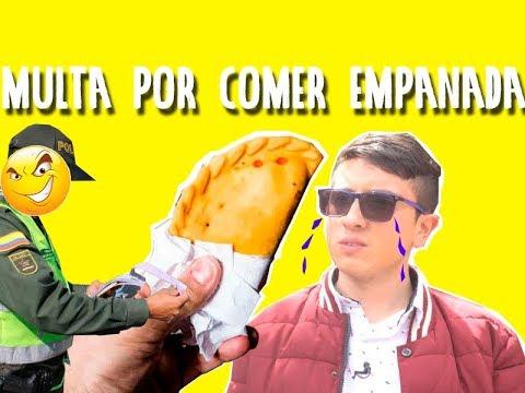 multa por comprar en la calle una empanadas ilegales en bogota colombia