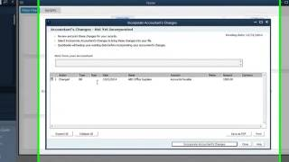 Importing Accountants Copy Changes in QuickBooks