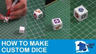 How to Make Dice - Dining Table Print and Play