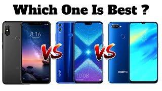 Xiaomi Redmi Note 6 Pro Vs Honor 8X Vs Realme 2 Pro | Which One Is Best ?