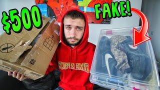 I GOT SCAMMED for $500 on EBAY! UNBOXING FAKE GUCCI, BAPE and NIKE SNEAKERS...