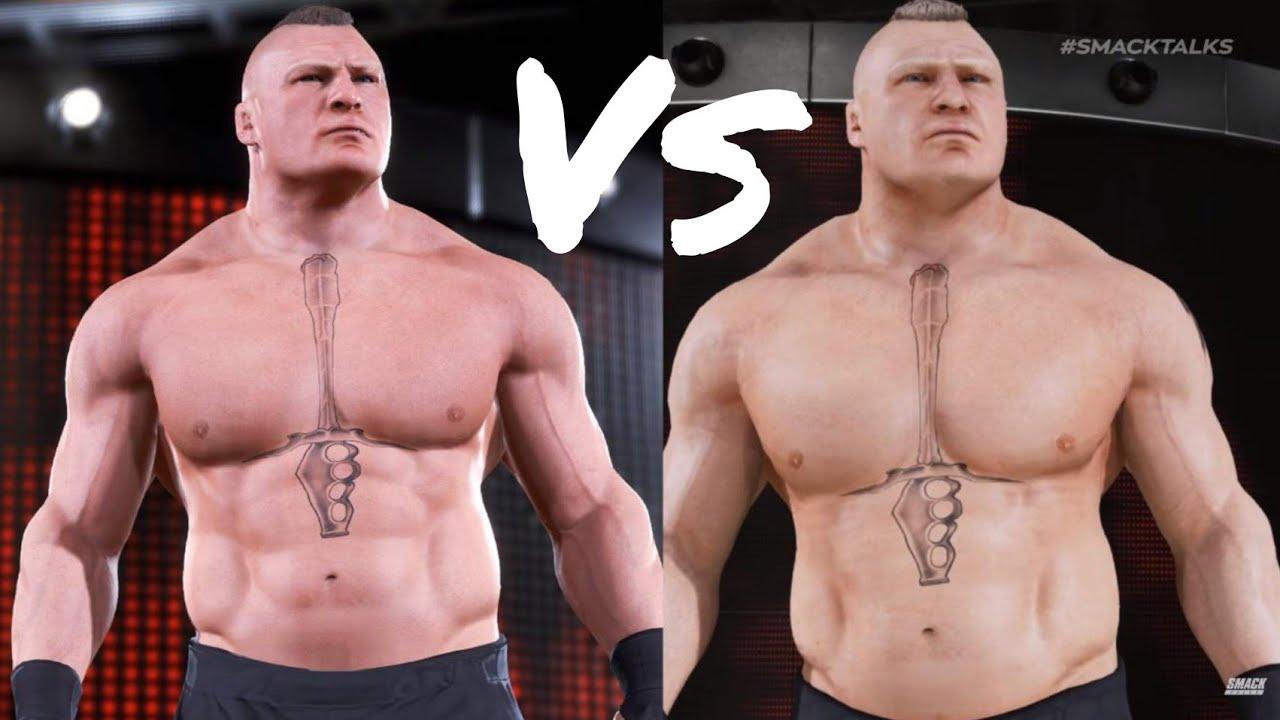 WWE Real Brock Lesnar Vs Copy Brock Lesnar | WWE 2k18 ...