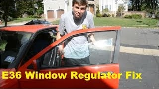 BMW E36 318Ti Window Regulator Repair and Slider Replacement