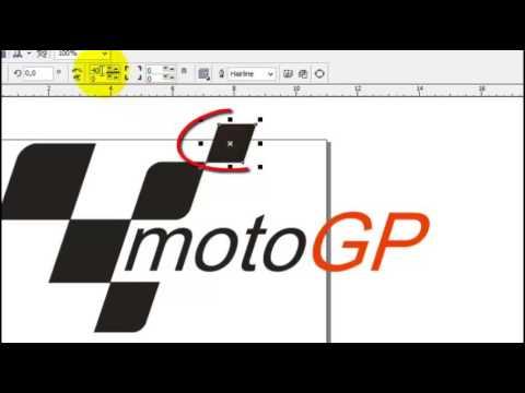 tutorial carra membuat logo moto GP mudah dengan corel