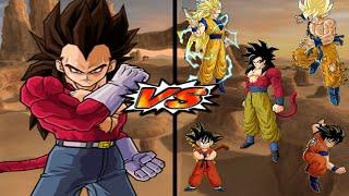 [TAS] DBZ BT3: Vegeta SSJ4 Vs. 5 Gokus (Super Enhanced Red Potara) (Request Match)
