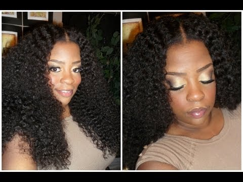 INSTALLING MY YUMMY CURLY HAIR WITH A CLOSURE YouTube