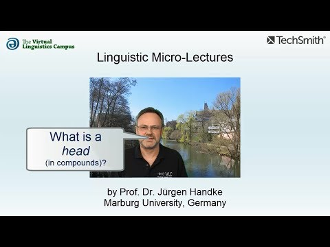 Linguistic Micro-Lectures: Headedness (in Compounds)