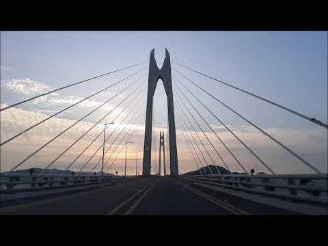 천사대교 왕복 오고가는중 환상적임 머스탱 gt 배기음 소리 심장을 두근두근 Angel Bridge Fantastic Korea