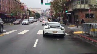 Porsche GT3RS on the streets of San Francisco