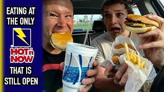 Hot 'N Now Mukbang at the Drive-Thru in Sturgis, Michigan | Series Road Trip Back To Chicago