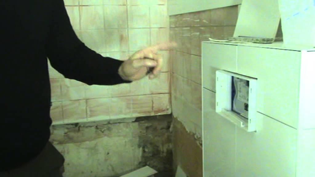 Achterwand Hangend Toilet : Een inbouw toilet tegelen doe je zo youtube