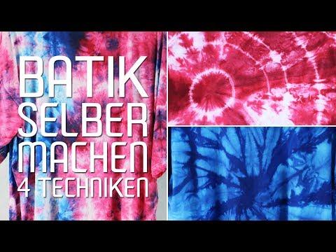 Batik selber machen - T-Shirt batiken - Anleitung und Bindetechnik - Talu.de