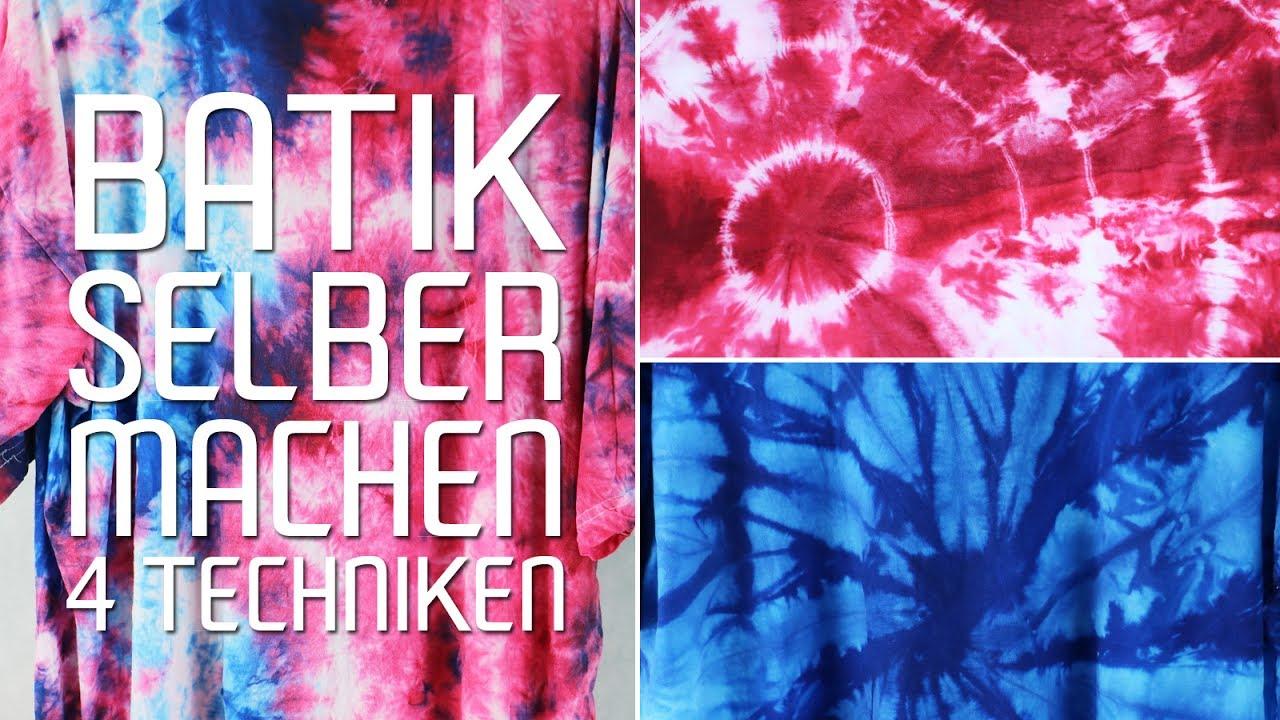 Batik Selber Machen T Shirt Batiken Anleitung Und Bindetechnik