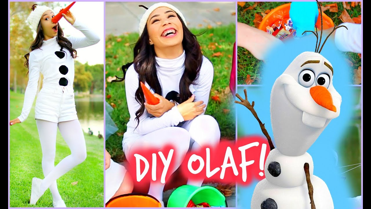 diy olaf frozen halloween costume easy and affordable youtube - Easy Homemade Halloween Costumes Teens