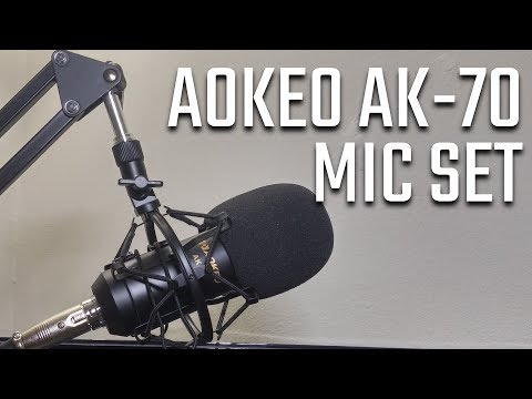 Aokeo Ak 70 Mic Set Review Scissor Stand Shock Mount Pop Filter