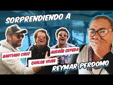 La sorpresa de Vives, Cepeda y Cruz cantando en un bus con Reymar Perdomo