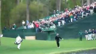 Vijay Singh Hole in One Across water - Augusta Masters 16th