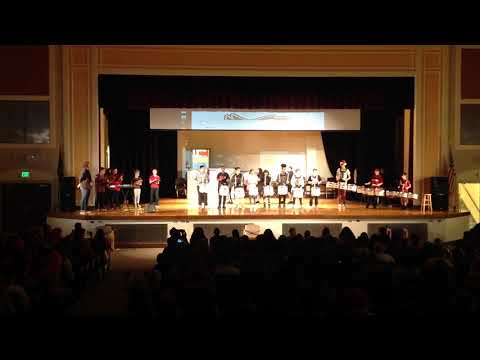 Jason Lee Middle School Drumline - December Pep Assembly Performance 2019