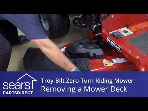 How to Remove the Mower Deck on a Troy-Bilt Zero-Turn Riding Mower