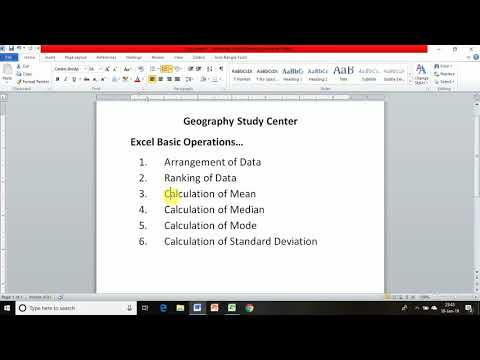 Excel 10 Data Arrangement Ranking Mean Median Mode